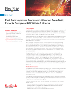 First Rate Improves Processor Utilization Four-Fold