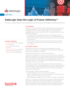 DataLogix Sees the Logic of Fusion ioMemory Solutions