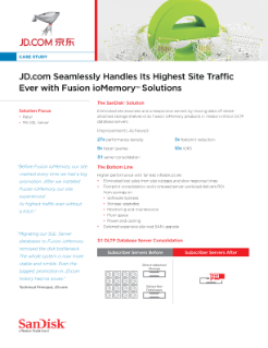 JD.com Seamlessly Handles Its Highest Site Traffic Ever with Fusion ioMemory™ Solutions