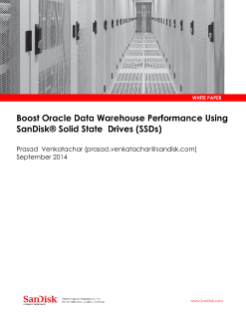 Boost Oracle Data Warehouse Performance Using SanDisk Solid State Drives (SSDs)