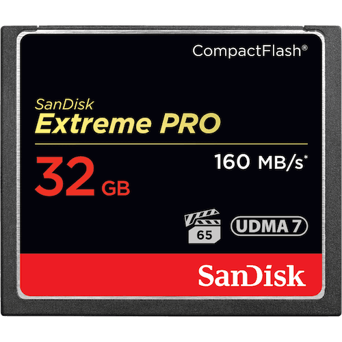 SanDisk Extreme PRO<sup>®</sup> CompactFlash<sup>®</sup>-geheugenkaart