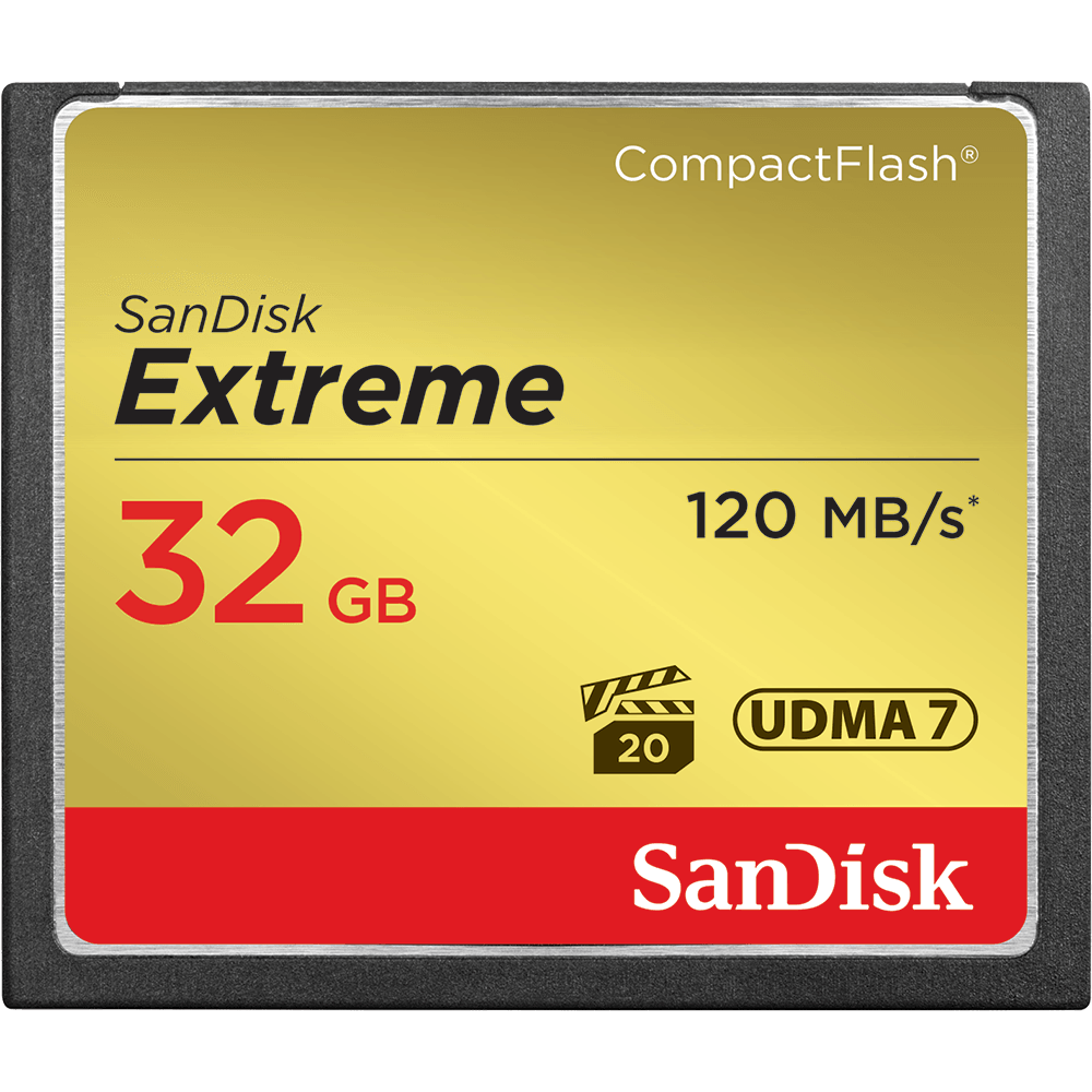 SanDisk Extreme<sup>®</sup> CompactFlash<sup>®</sup>-geheugenkaart